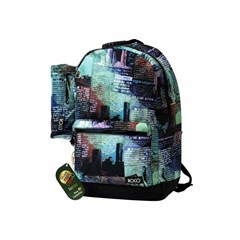 ROCO Backpack Printed 2 Zip. 18+P.Case