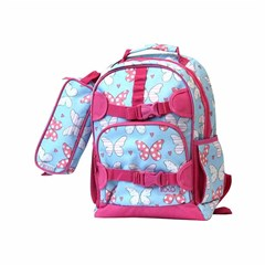 ROCO Backpack Kids Fash. Sky Bl 2 Zip. 15''+P.Case