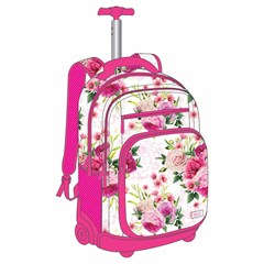ROCO Trolley2 Floral White 3 Zip. 19+P.Case