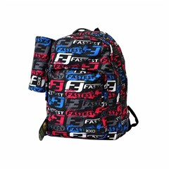 ROCO Backpack Wording Black 3 Zip. 17+P.Case
