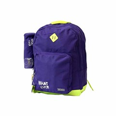 ROCO Backpack Basic 3 Zip. 17 Purple/Yell+P.Case