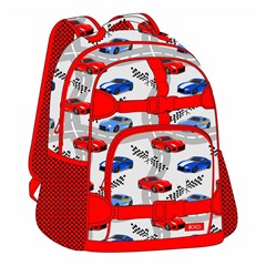 ROCO Backpack Kids Fash. White 2 Zip. 15+P.Case