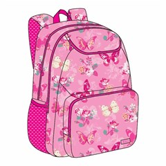 ROCO Backpack Butterfly Pink 3 Zip. 18+P.Case