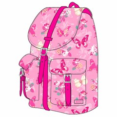ROCO Backpack Butterfly Pink 1 Zip. 16+P.Case