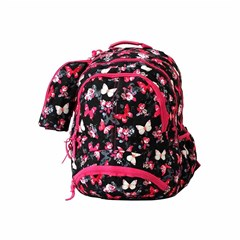 ROCO Backpack Butterfly Black 3 Zip. 18+P.Case