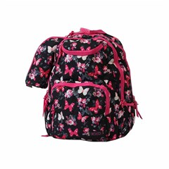 ROCO Backpack Butterfly Black 3 Zip. 18 +P.Case