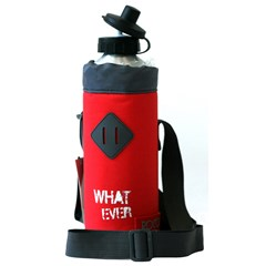 ROCO Water Bottle Basic 1000ml Red/Grey