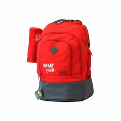 ROCO Backpack Basic 3 Zip. 20 Red/Grey+P.Case