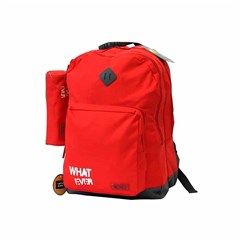 ROCO Backpack Basic 3 Zip. 17 Red/Grey+P.Case