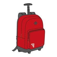 ROCO Trolley1 Basic 2 Zip. 18 Red/Grey+P.Case