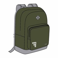 ROCO Backpack Basic 2Zip. 17Army Grn/Grey+P.Case