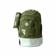 ROCO Backpack Basic 3Zip. 20Army Grn/Grey+P.Case