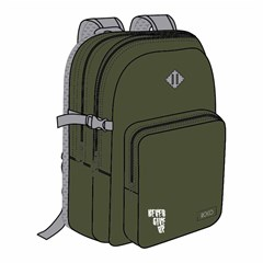 ROCO Backpack Basic3Zip. 20 Army Grn/Grey+P.Case