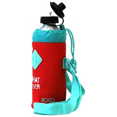 ROCO Water Bottle Basic 1000ml Red/Green