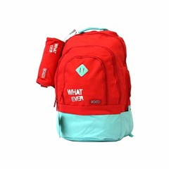 ROCO Backpack Basic 3 Zip. 20 Red/Green+P.Case