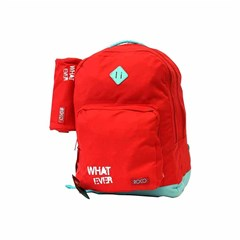 ROCO Backpack Basic 3 Zip. 17 Red/Green+P.Case
