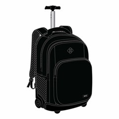 ROCO Trolley2 Fluo 3 Zip. 19 Black+P.Case