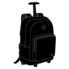 ROCO Trolley1 Fluo 2 Zip. 18 Black+P.Case