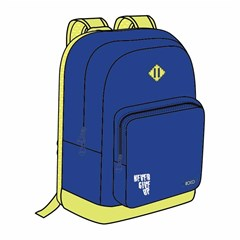 ROCO Backpack Basic 2 Zip. 17 Blue/Yellow+P.Case