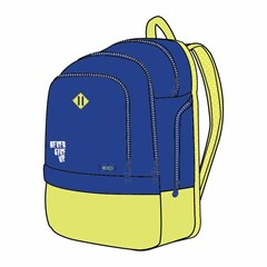 ROCO Backpack Basic 3 Zip. 20 Blue/Yellow+P.Case