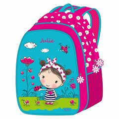 ROCO Backpack Julie 5in1 school Set 2 Zip. 16''