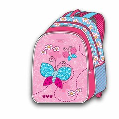ROCO Backpack Buterfly 5in1 school Set 2 Zip. 16''