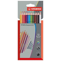 1612-3 Aquacolor pencil 12pcs cardboard in wallet