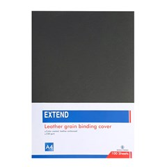 EXTEND leather grain bind. cov 100sh 230g A3 Black