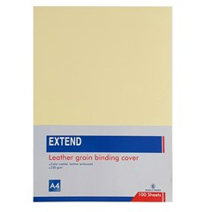 EXTEND leather gr bind.cov 100sh 230g A4 LightYell