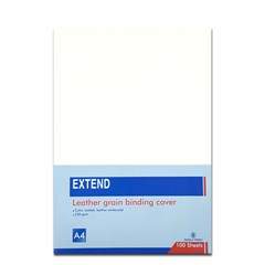 EXTEND leather grain bind. cov 100sh 230g A4 White
